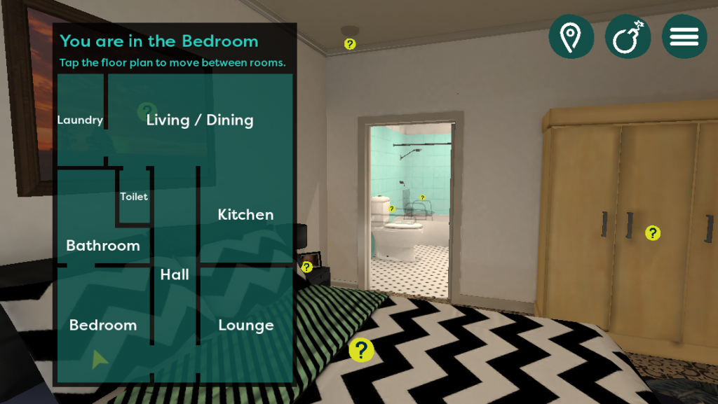 The Dementia-Friendly Home App - Wrong Bedroom Setup
